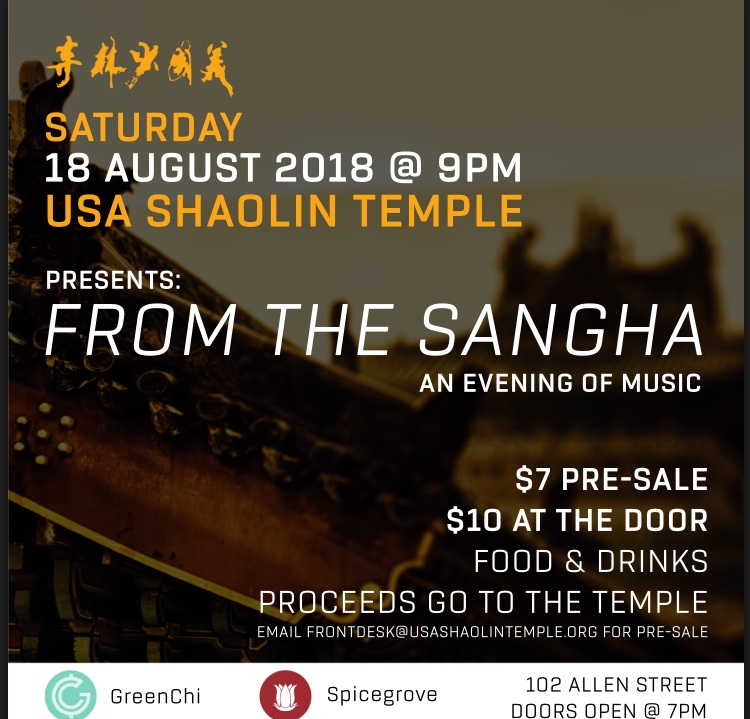 Saturday 18 August From the Sangha
